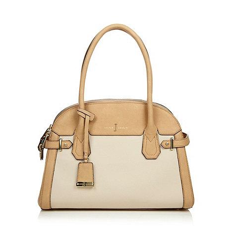J by Jasper Conran - Designer beige double zip bag