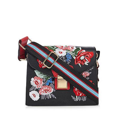 J by Jasper Conran - Designer black double zip small dome bag