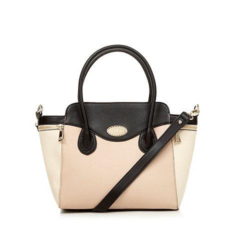 J by Jasper Conran - Designer pale pink colour block winged grab bag