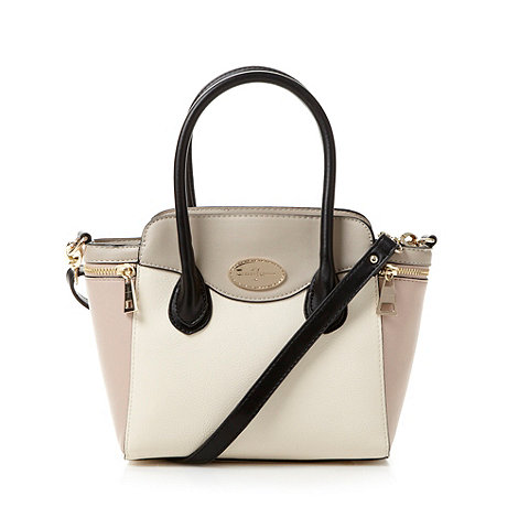 J by Jasper Conran - Designer cream colour block winged grab bag