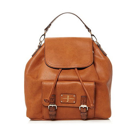 J by Jasper Conran - Designer tan buckle pocket backpack