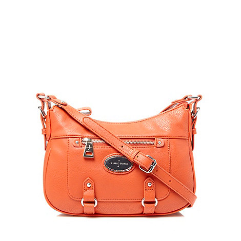 J by Jasper Conran - Designer orange zip cross body bag