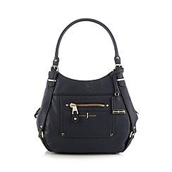J by Jasper Conran - Designer navy front pocket grab bag