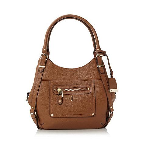 J by Jasper Conran - Designer tan zip pocket scooped shoulder bag