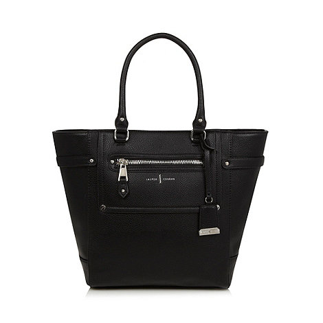 J by Jasper Conran - Designer black three section tote bag