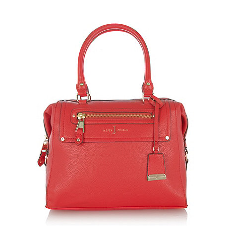 J by Jasper Conran - Designer red grained zip pocket grab bag