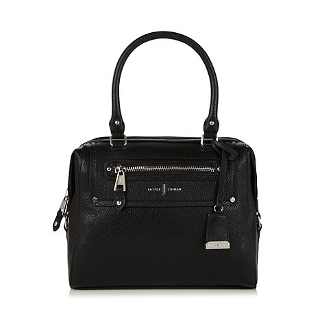 J by Jasper Conran - Designer black grained zip pocket grab bag
