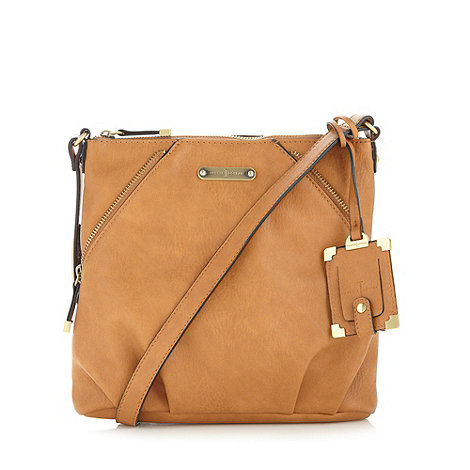 J by Jasper Conran - Designer tan zip cross body bag
