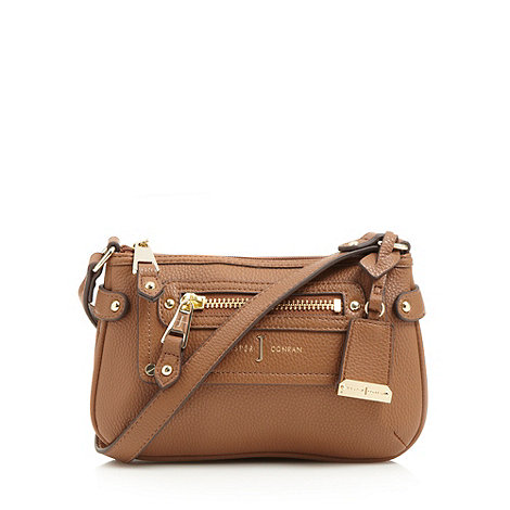 J by Jasper Conran - Designer tan double gusset cross body bag