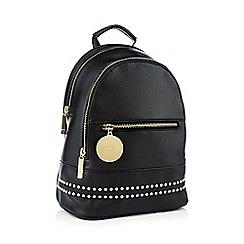 Faith - Black studded backpack