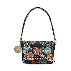 Faith - Multi-coloured floral embroidered studded cross body bag