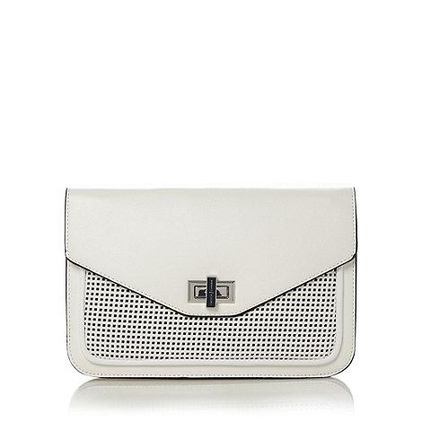 J by Jasper Conran - Designer white perforated clutch bag