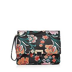Faith - Multi-coloured floral embroidered clutch bag