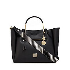Faith - Black winged slough large tote bag