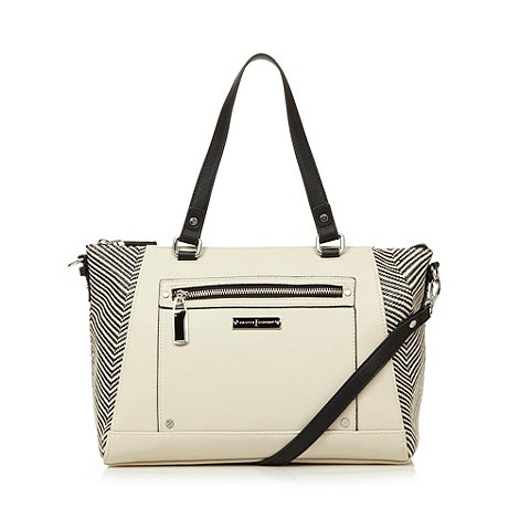 J by Jasper Conran - Designer cream chevron winged shoulder bag