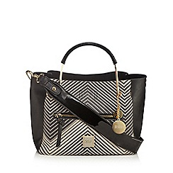 Faith - Black chevron tote bag