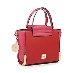 Faith - Red colour block winged grab bag