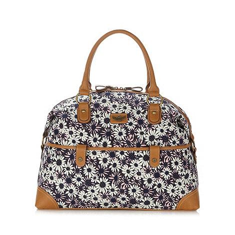Mantaray - Navy daisy print weekender bag