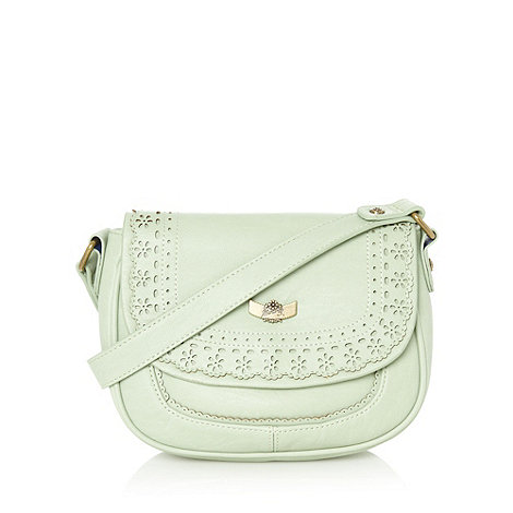 Mantaray - Light green cutout daisy cross body bag