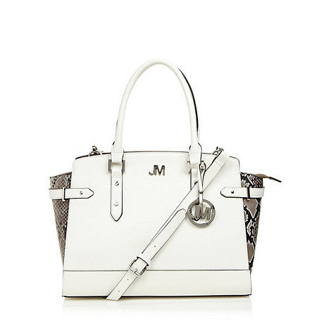 Star by Julien Macdonald - Designer cream snakeskin textured tote bag