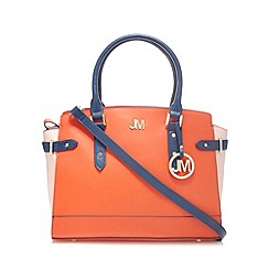 Star by Julien Macdonald - Designer orange colour block winged tote bag
