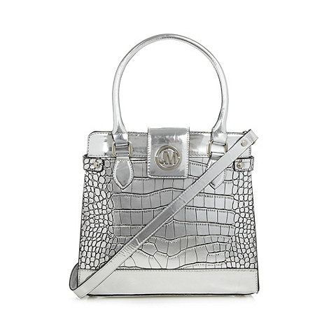 Star by Julien Macdonald - Designer silver mock croc small tote bag