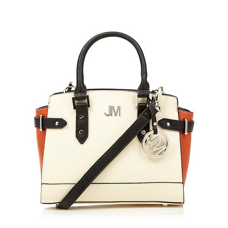 Star by Julien Macdonald - Designer cream mini colour block grab bag