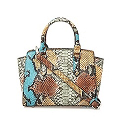 Star by Julien Macdonald - Designer light grey animal print mini grab bag