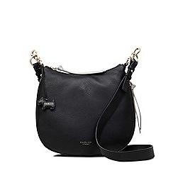 Radley - Black large leather 'pudding lane' cross body bag