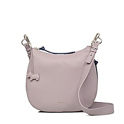 Radley - Light grey large leather 'pudding lane' cross body bag