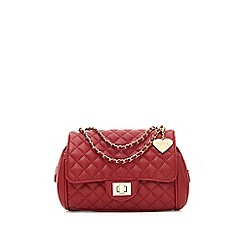 Marc B - Red 'Knightsbridge' classic quilted shoulder bag