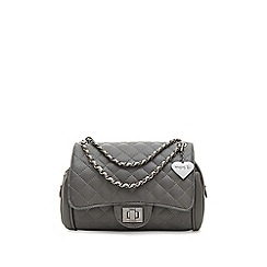 Marc B - Grey 'Knightsbridge' classic quilted shoulder bag