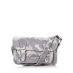 Red Herring - Grey camouflage mini satchel bag