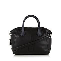 Betty Jackson.Black - Designer navy leather chunky zip tote bag