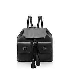 Marc B - Black double pocket backpack