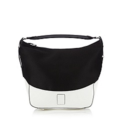 Betty Jackson.Black - Designer white mesh grab bag
