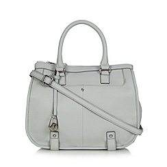 Betty Jackson.Black - Designer grey leather large grab bag