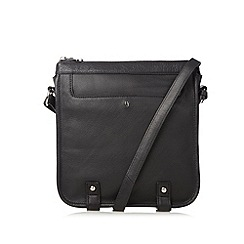 Betty Jackson.Black - Designer black leather pocket cross body bag