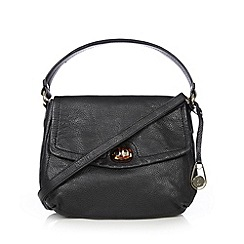 Betty Jackson.Black - Designer black leather slouch shoulder bag