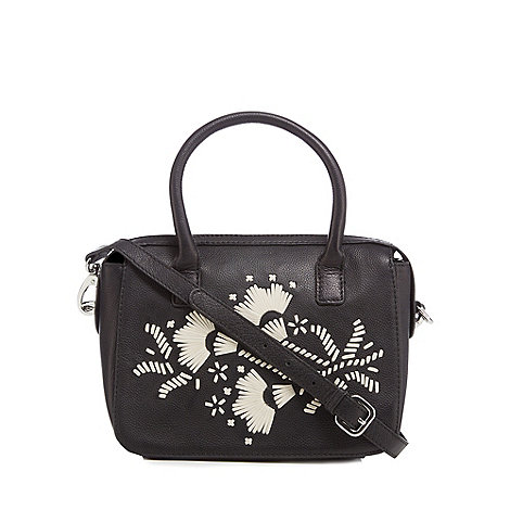 Principles by Ben de Lisi - Designer black eyelet cross body bag