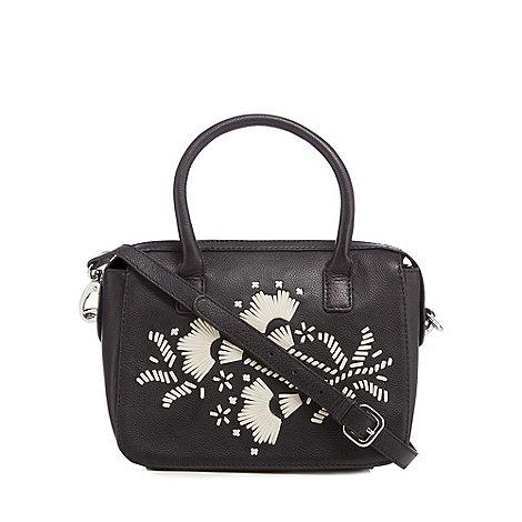 Principles by Ben de Lisi - Designer black eyelet cross body bag