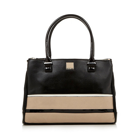 Principles by Ben de Lisi - Designer black colour block striped work bag