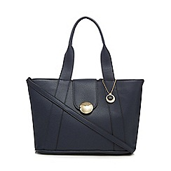 The Collection - Navy circle detail tote bag