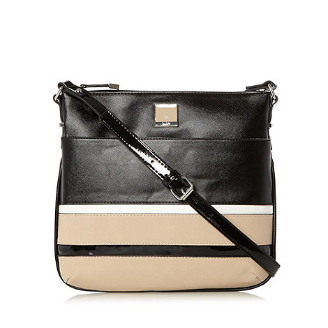 Principles by Ben de Lisi - Designer black colour block cross body bag