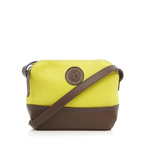 Principles by Ben de Lisi - Designer yellow leather small cross body bag