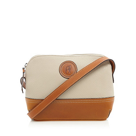 Principles by Ben de Lisi - Designer cream leather small cross body bag