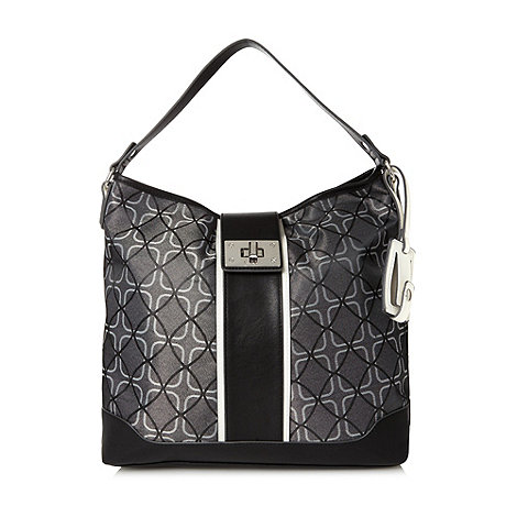 Principles by Ben de Lisi - Grey square jacquard hobo bag