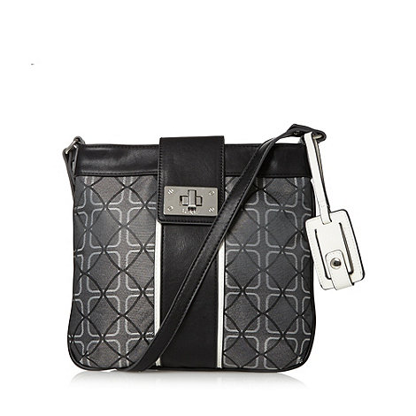 Principles by Ben de Lisi - Grey square jacquard cross body bag