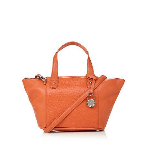 Betty Jackson.Black - Designer orange leather winged cross body bag