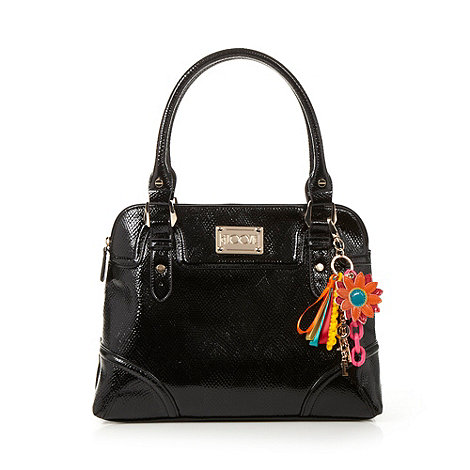 Floozie by Frost French - Black patent textured shoulder bag
